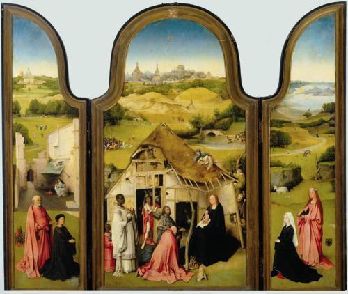 Hieronymus Bosch, Triptych of the Epiphany, c. 1495, oil on panel. Museo nacional del Prado, Madrid.